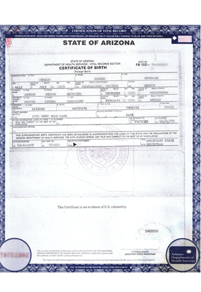 Birth Certificate Translation of Public Legal Documents ...