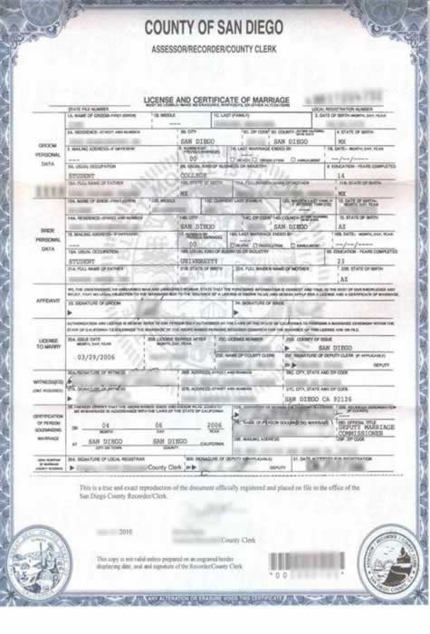 Birth certificate translation of public legal documents marriage certificate translation from english to spanish for foreign use yelopaper Gallery