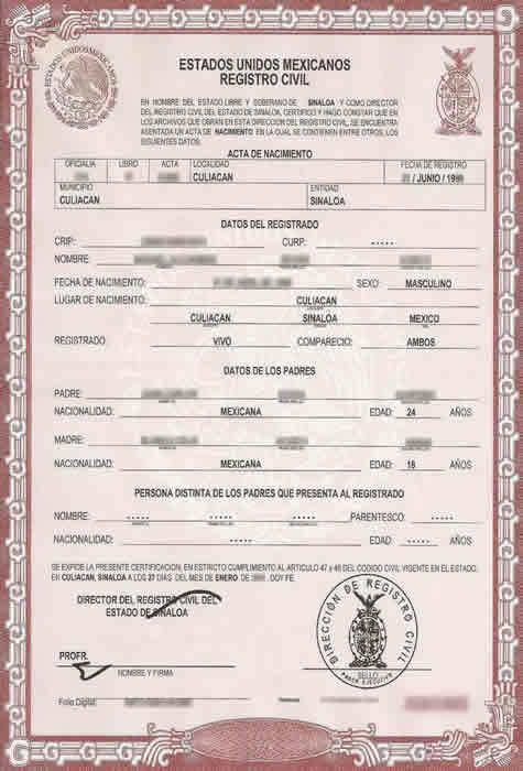 Birth certificate translation of public legal documents translation service for Mexican birth certificate template
